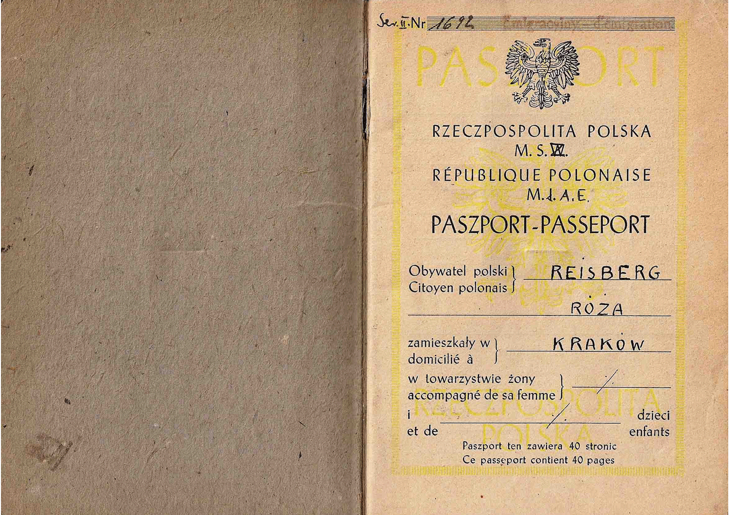 WW2 Polish passport
