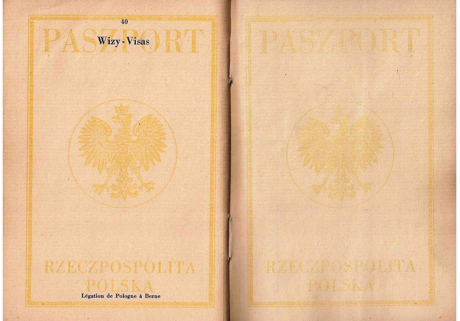 Berne printed Polish Passport.