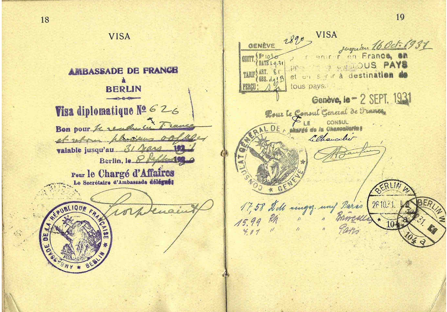 1927-1932 German Diplomatic passport – Young Plan participate