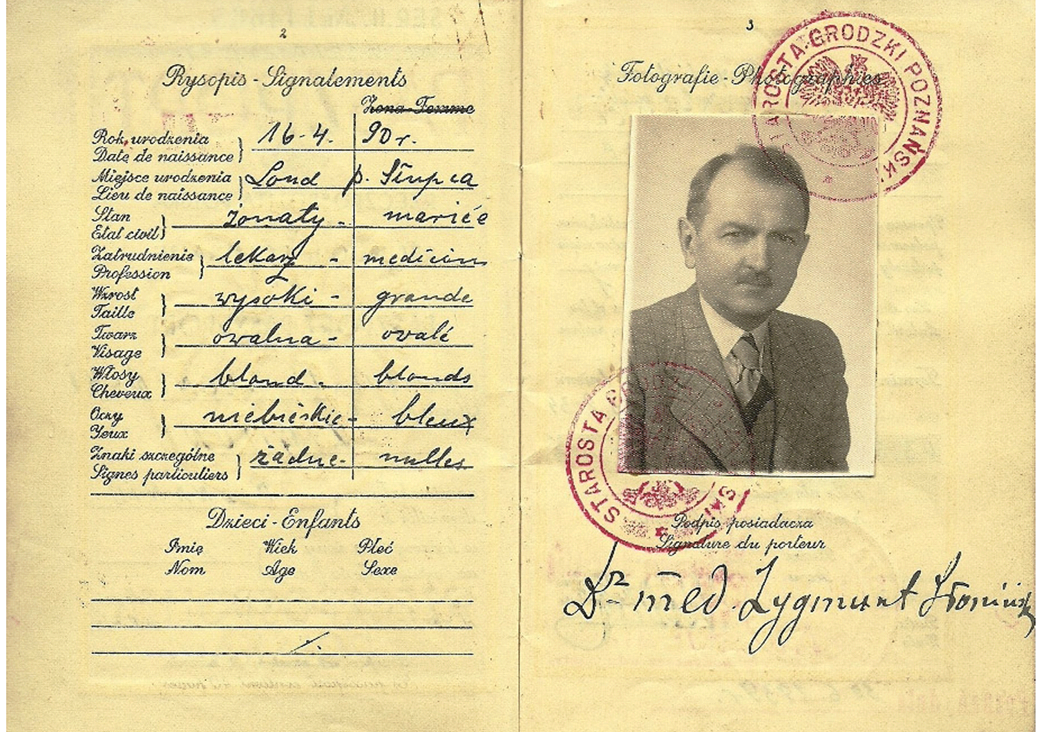 1939 passport of a Katyn victim