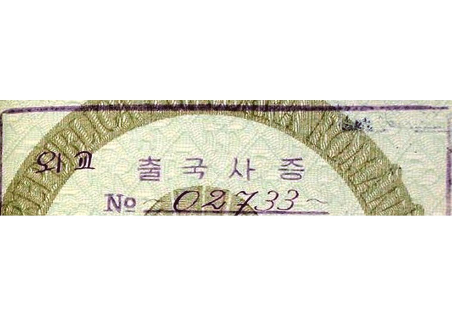 29. 외교 출구사증 - diplomatic exit visa
