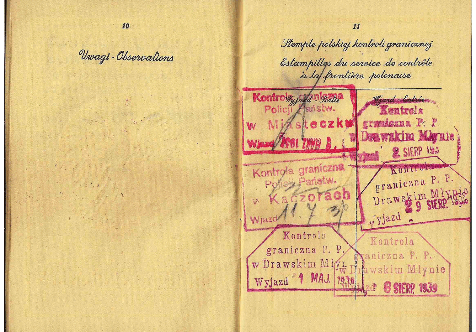 Polish service passport