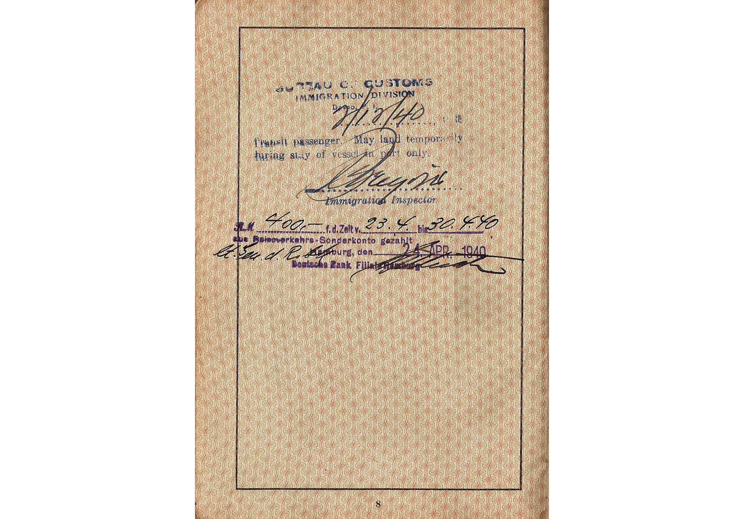 WW2 Indonesian issued German passport