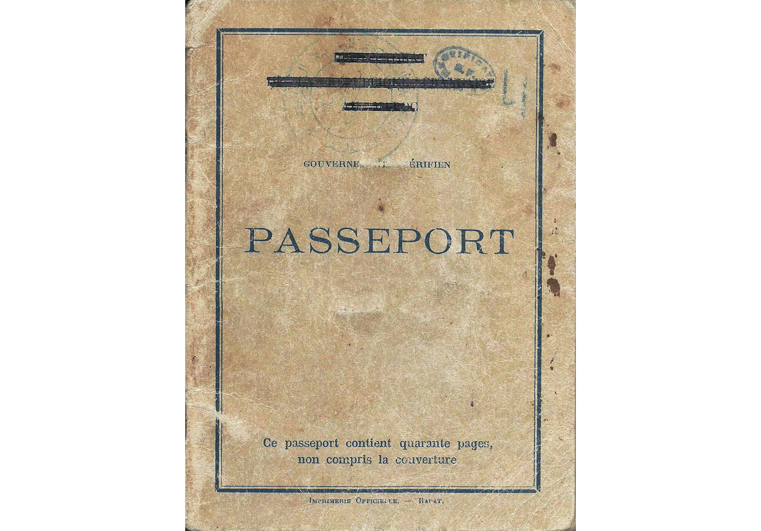 Moroccan interim French visa from 1956
