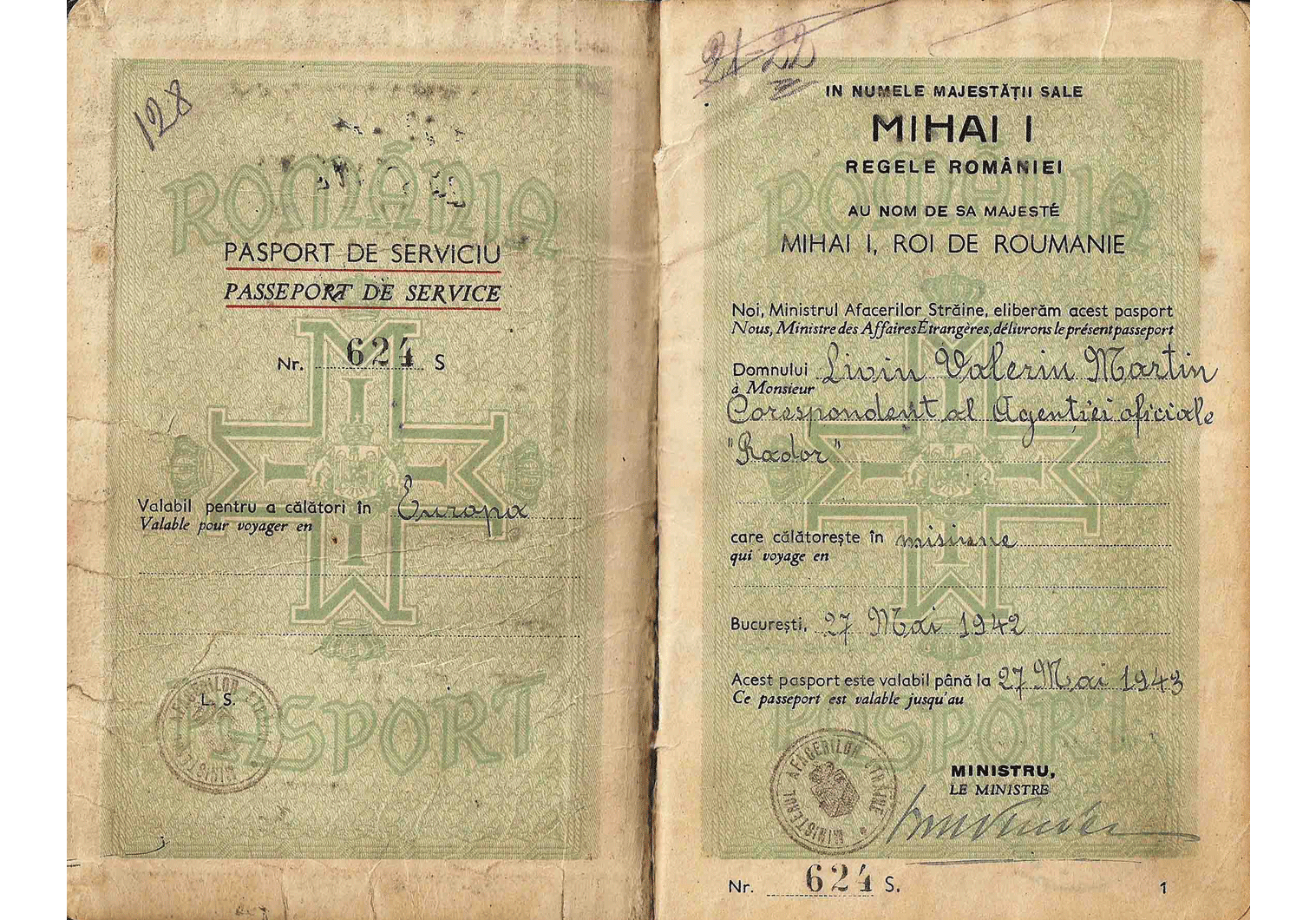 WW2 Service passport
