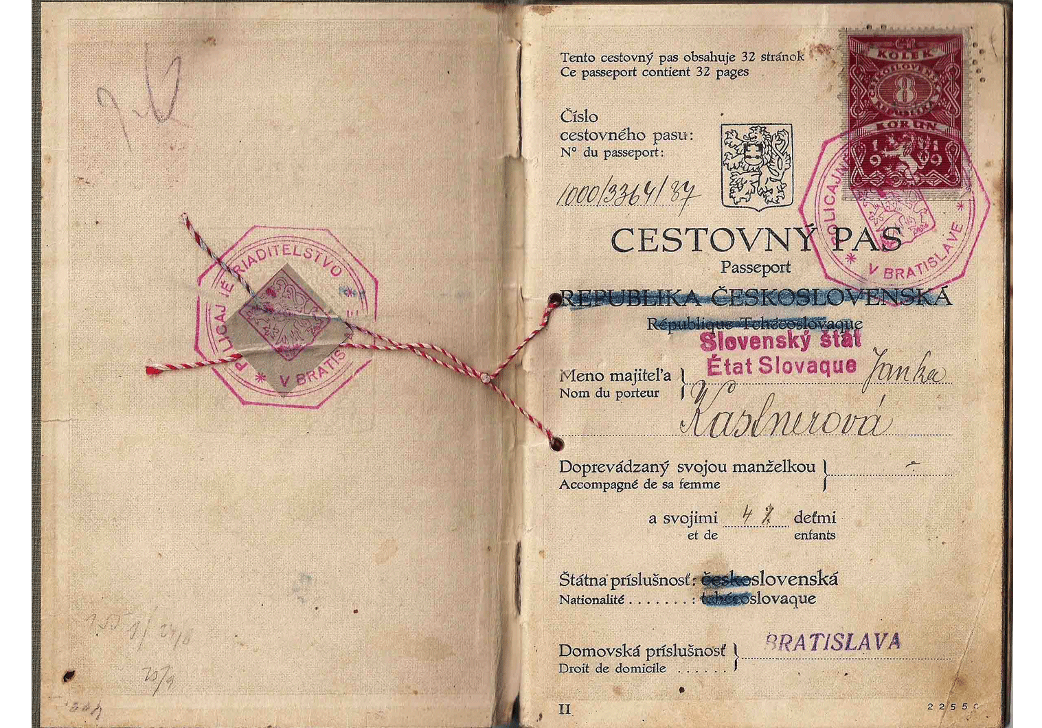 Munich Agreement passport 1938