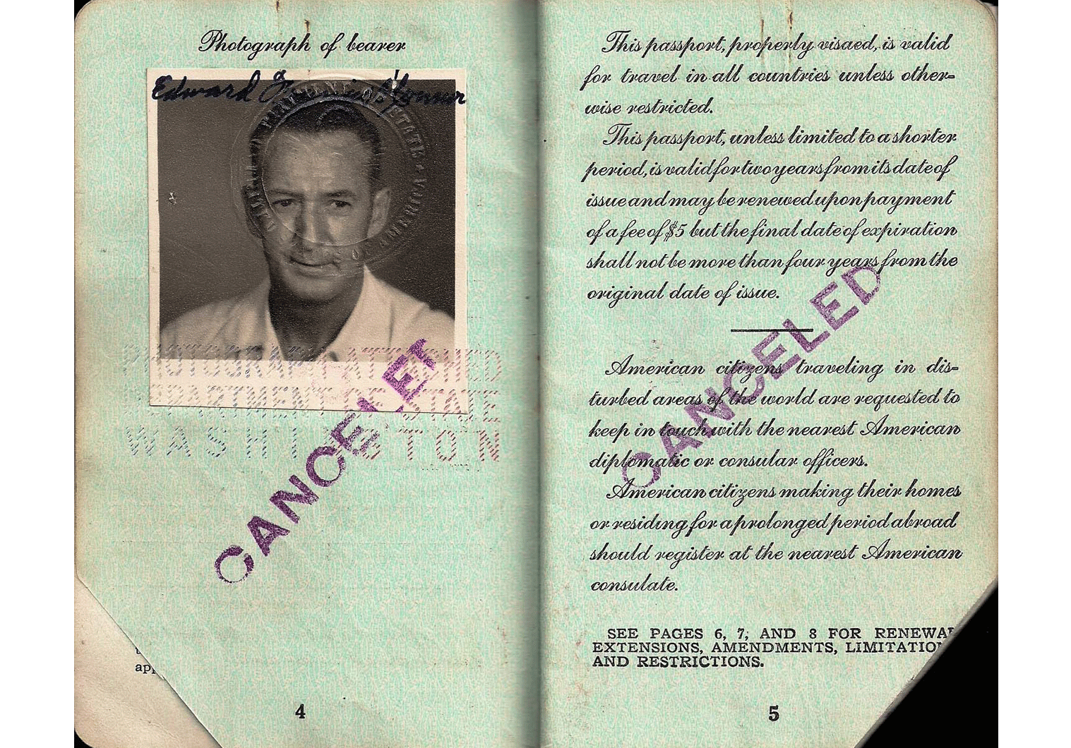 Korean War passport