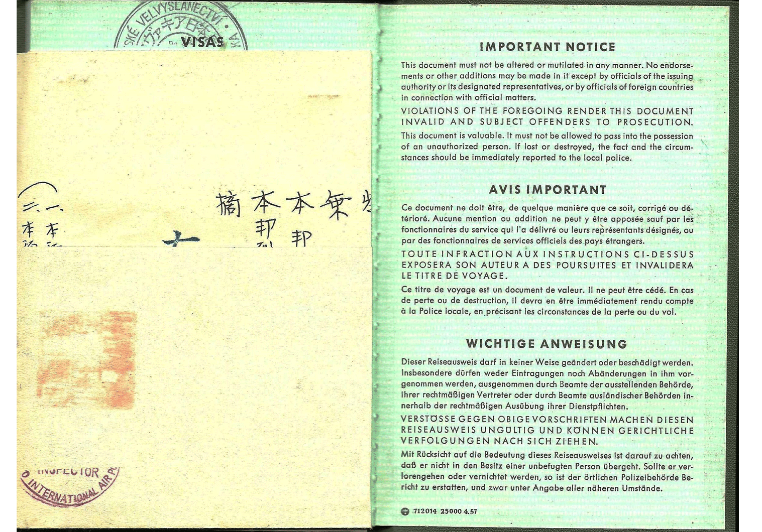 Allied German passport