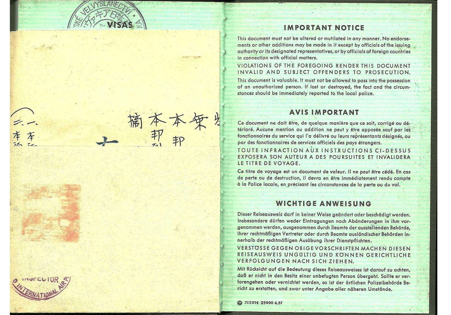 Allied German passport
