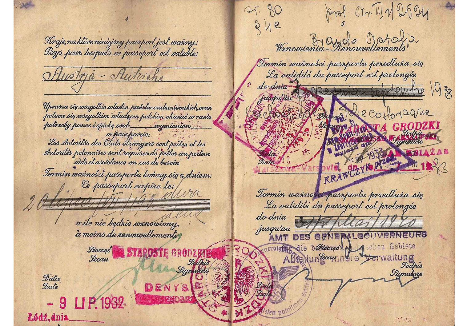 WW2 life-saving visa
