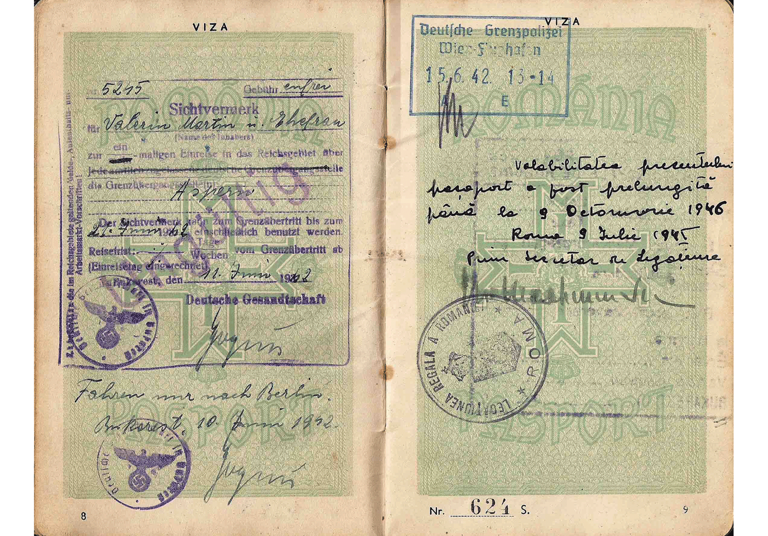 German visa WW2