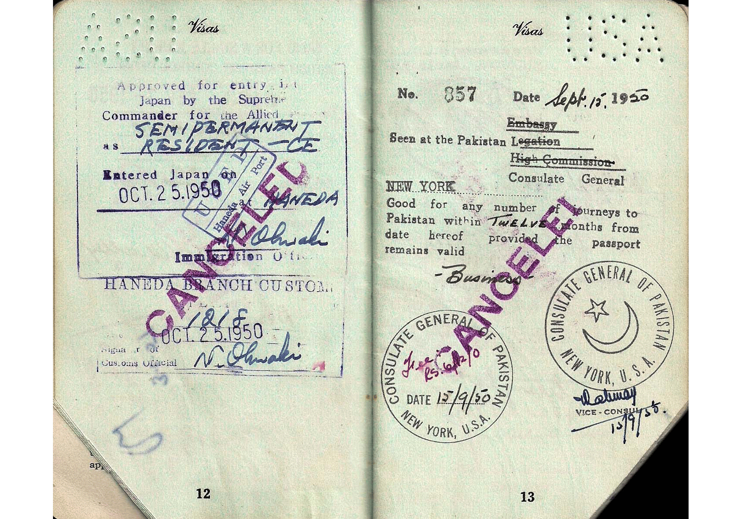 Cold War passport