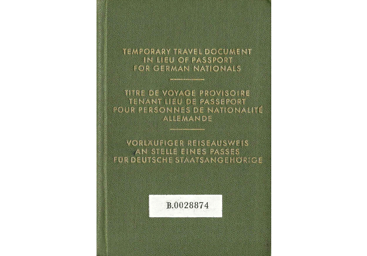 Allied Government passport