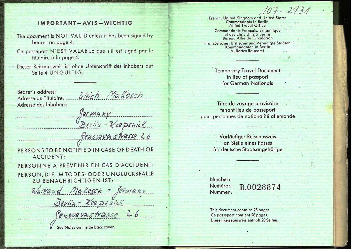 reiseausweis der bundesrepublik deutschland
