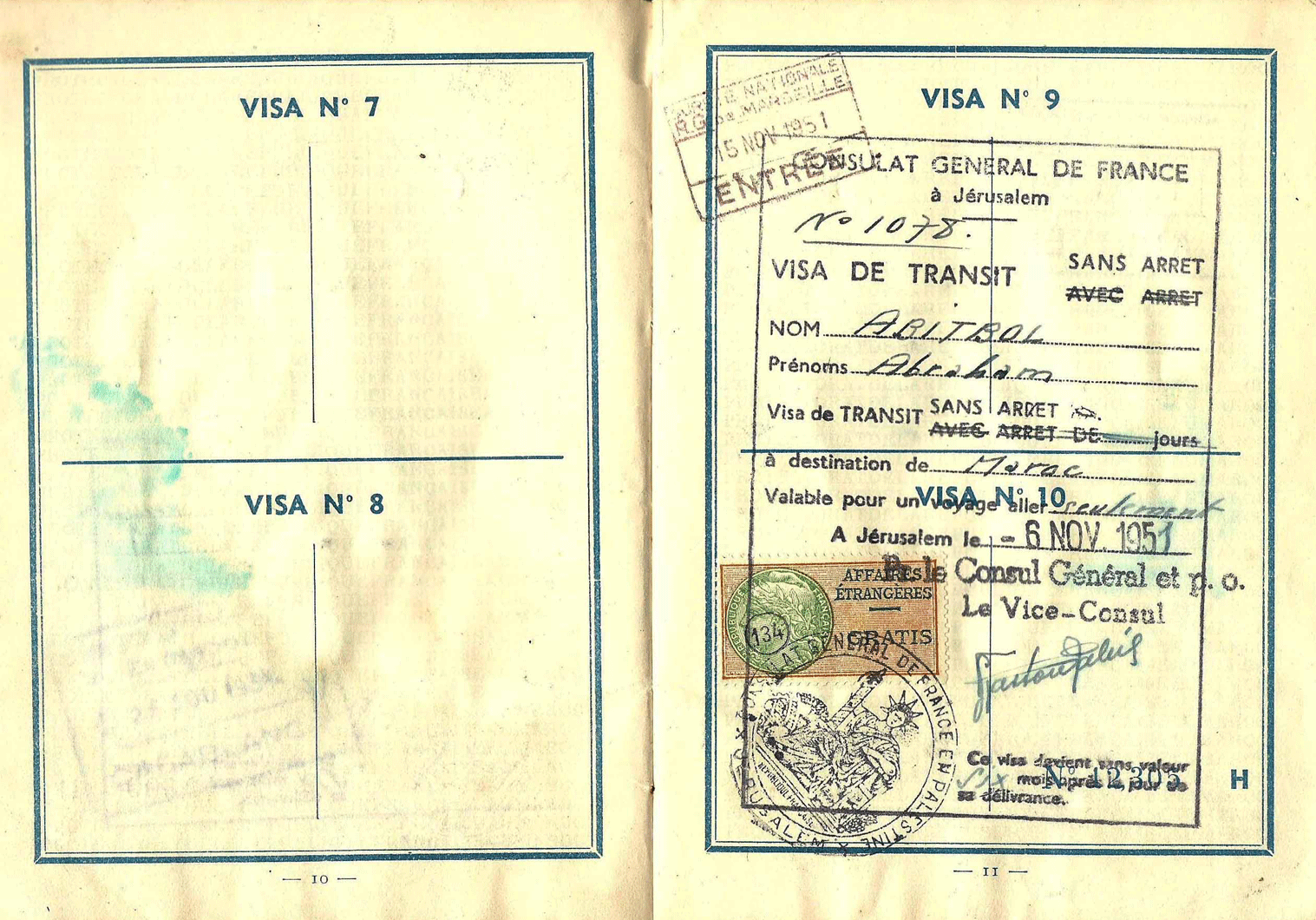 Moroccan independence passport