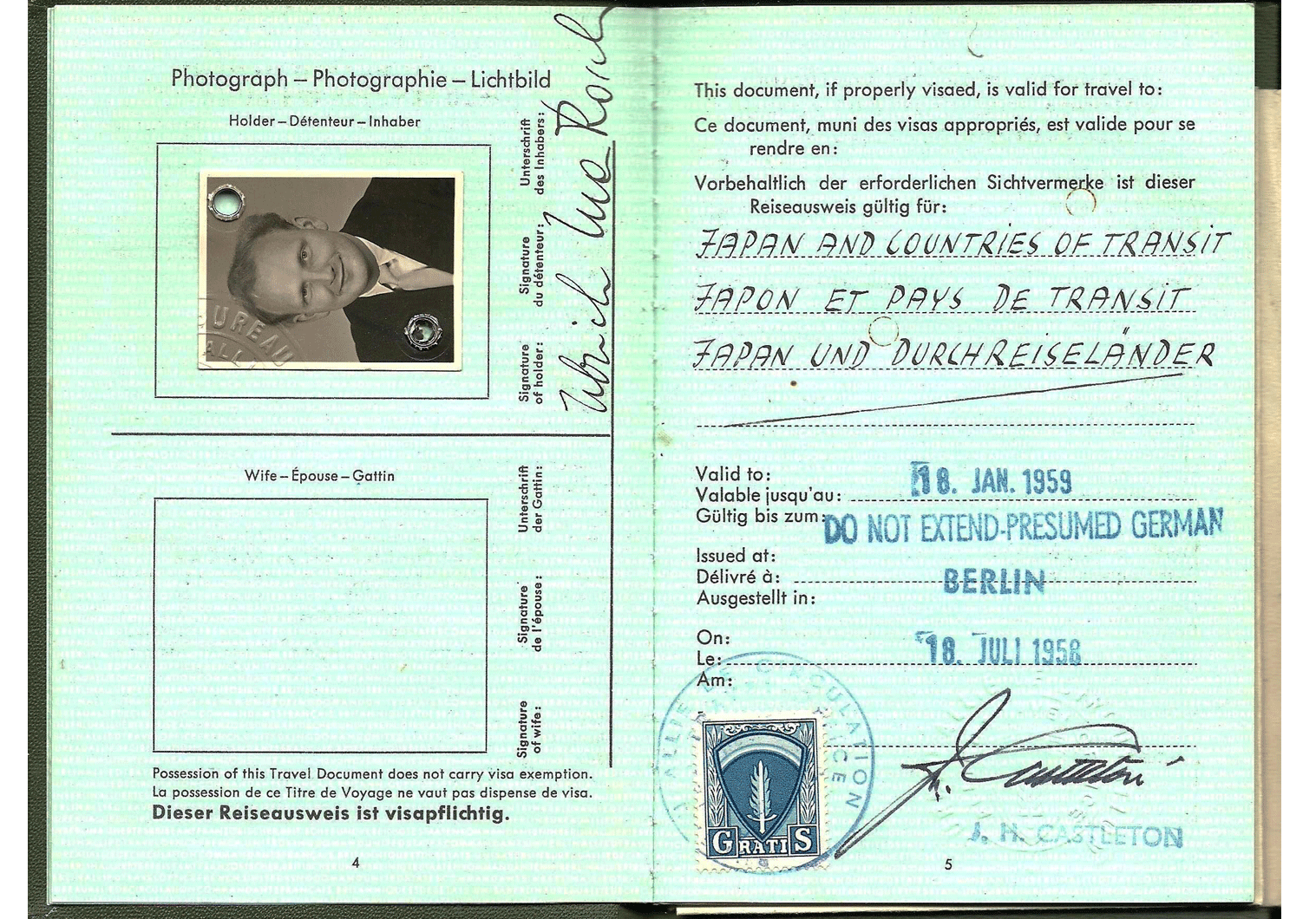 Stasi German passport