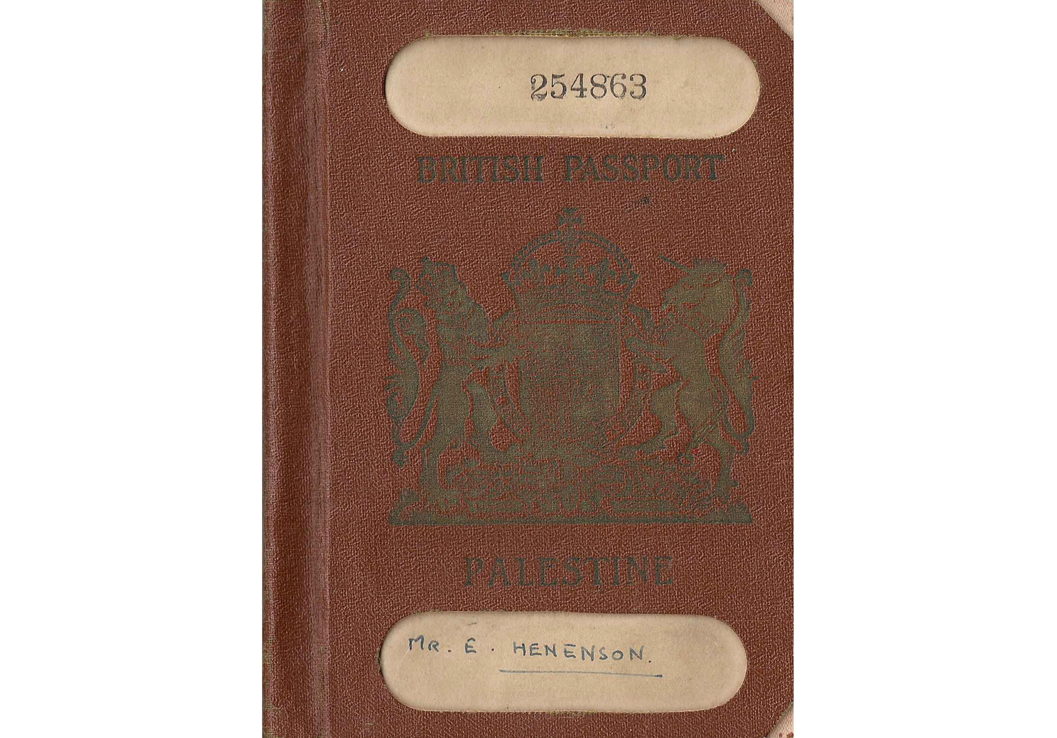 British Palestine passport