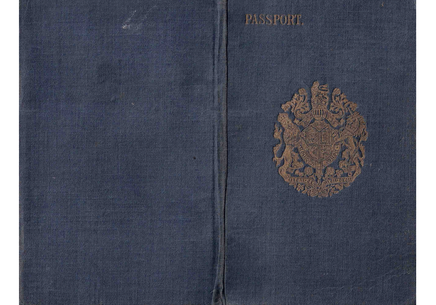 WW1 British passport used for China
