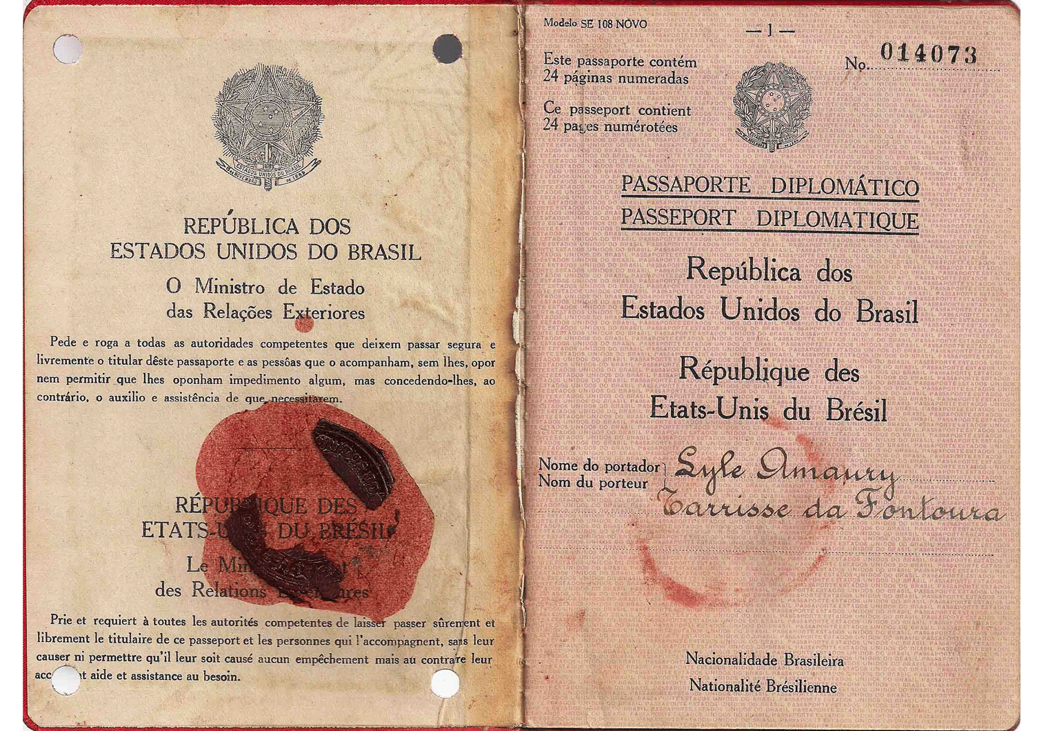 old diplomatic passport