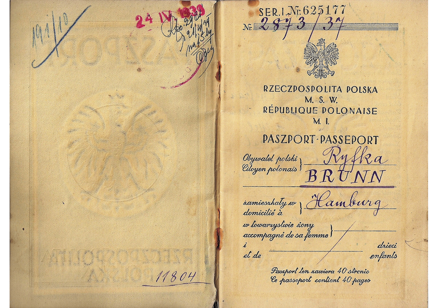 Kristallnacht passport.