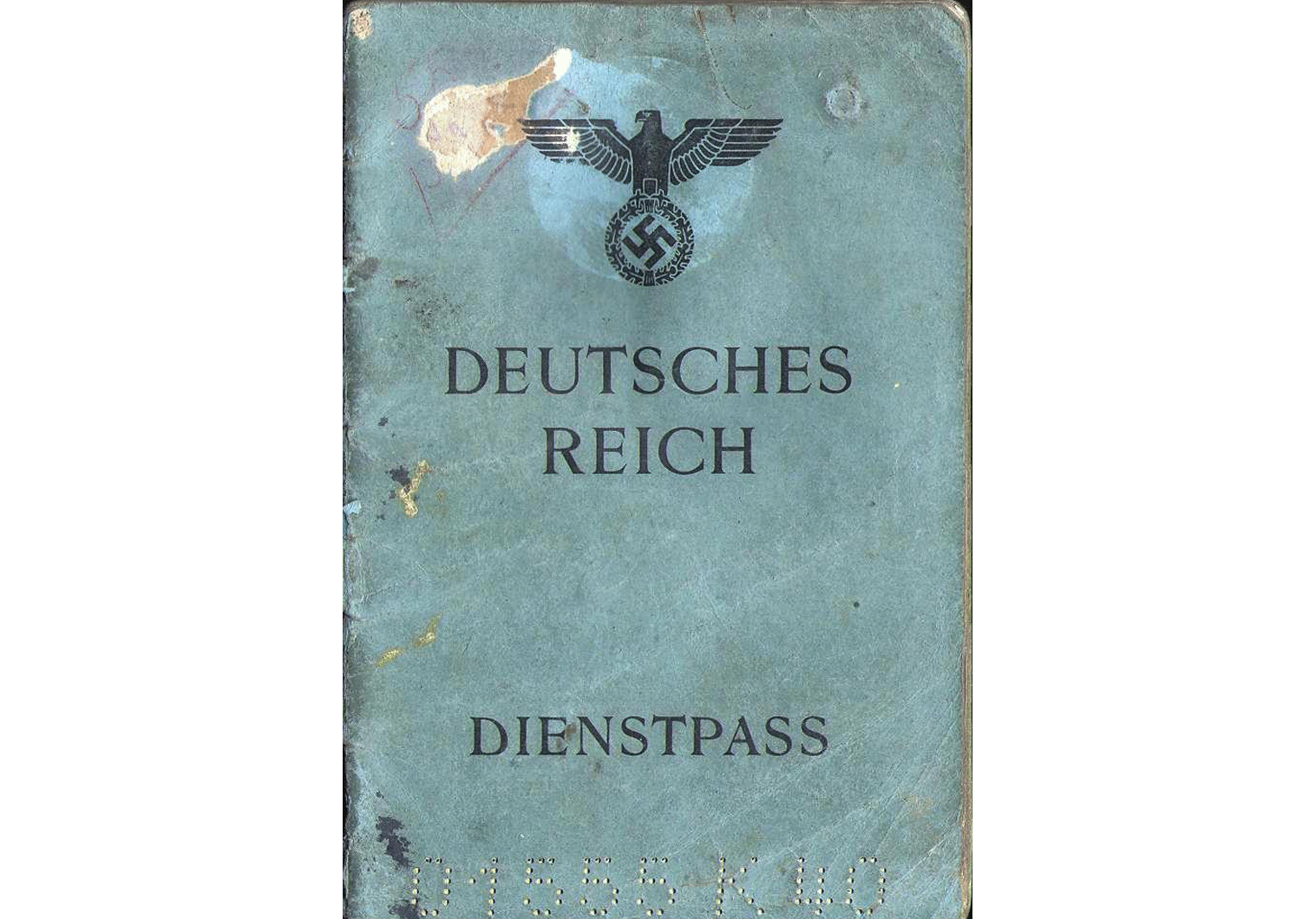 1944 German Service-Passport Bucharest war time issued Dienstpass.