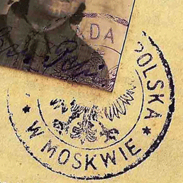1942 Kuibyshev Polish passport issued in war time USSR