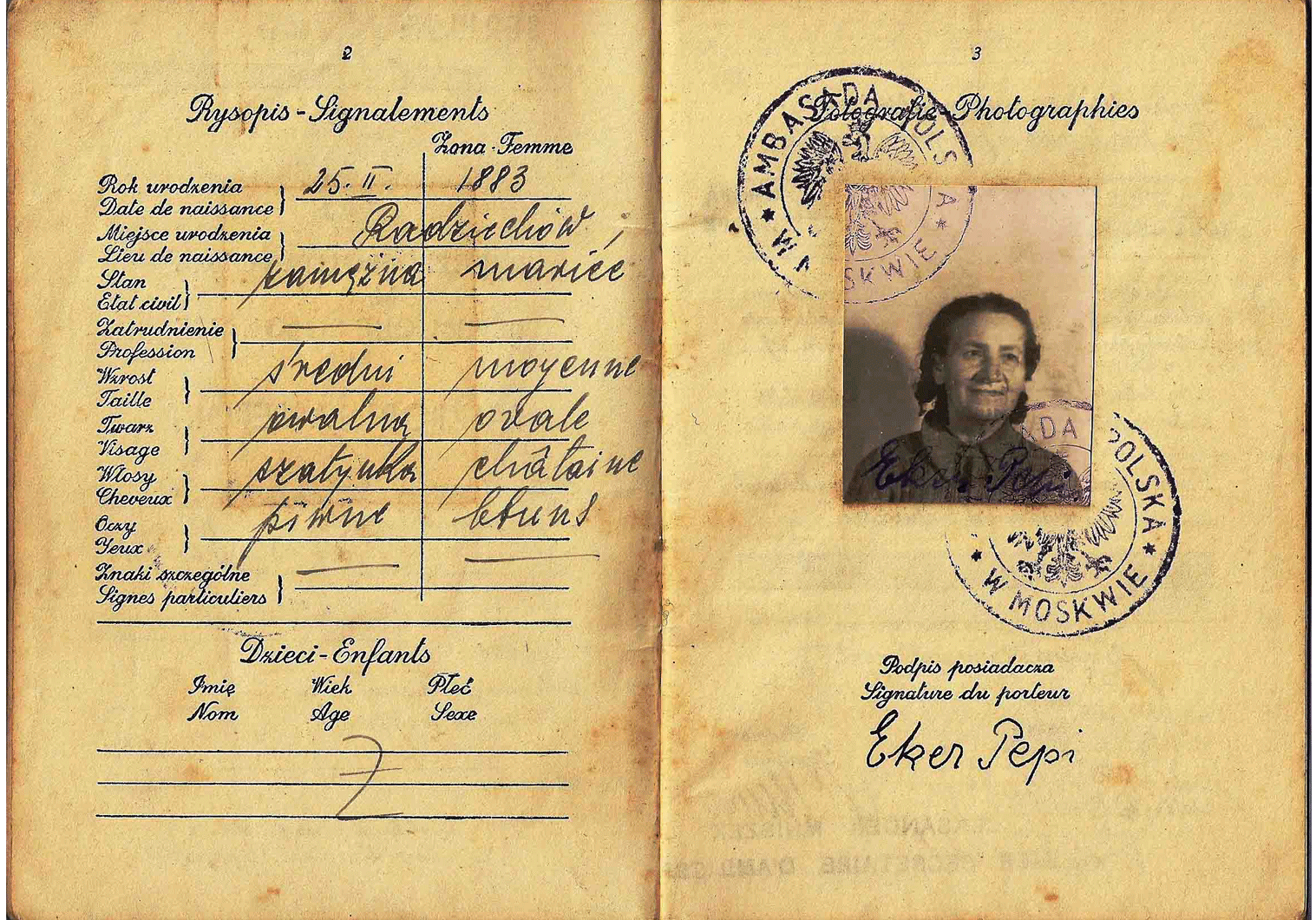 WW2 Polish passport from the Soviet Union