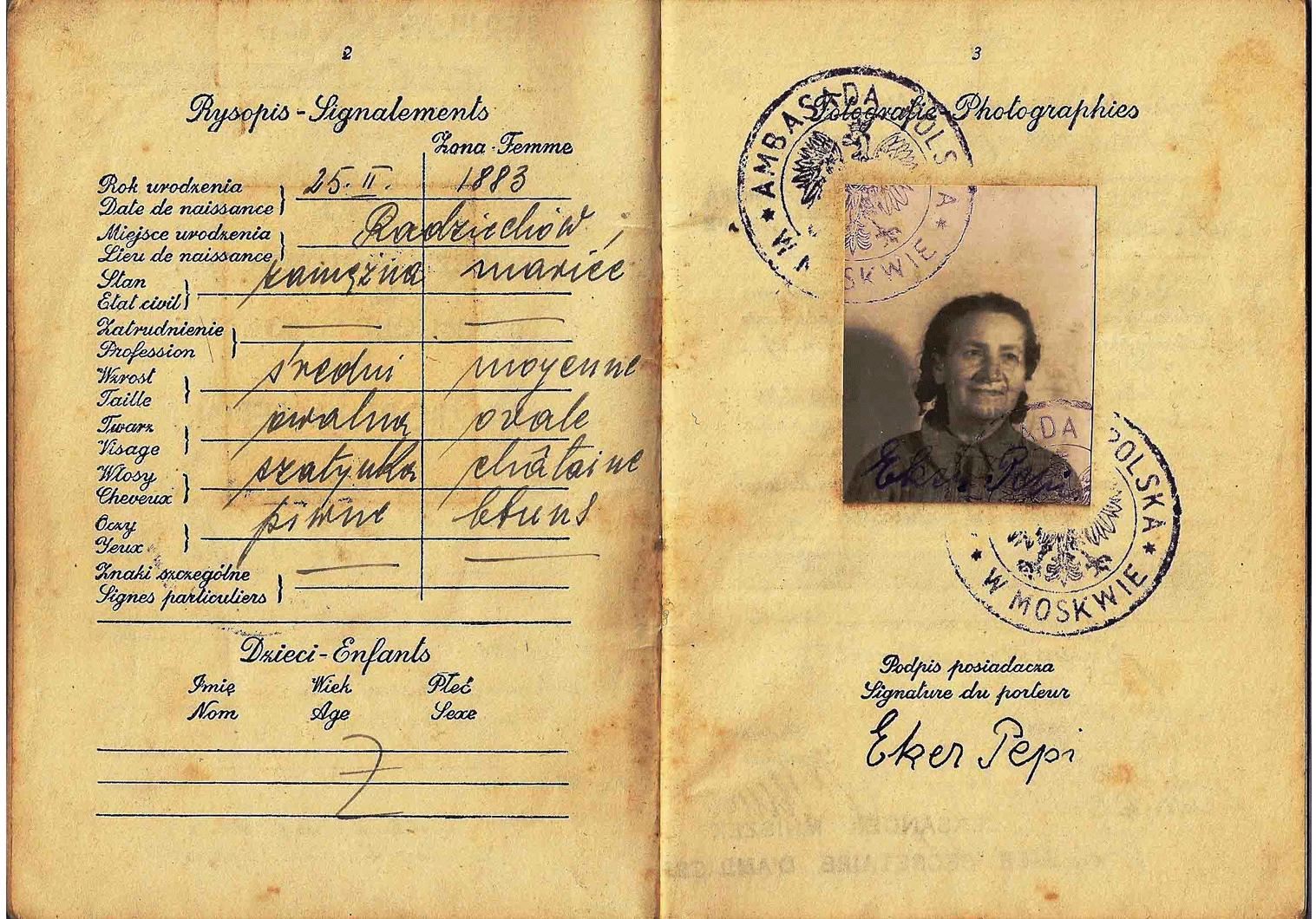 WW2 Polish passport from the Soviet Union