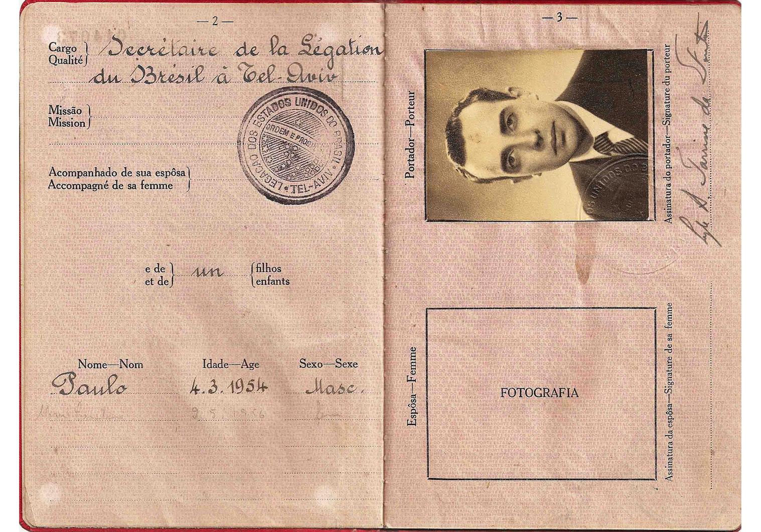 old diplomatic passport