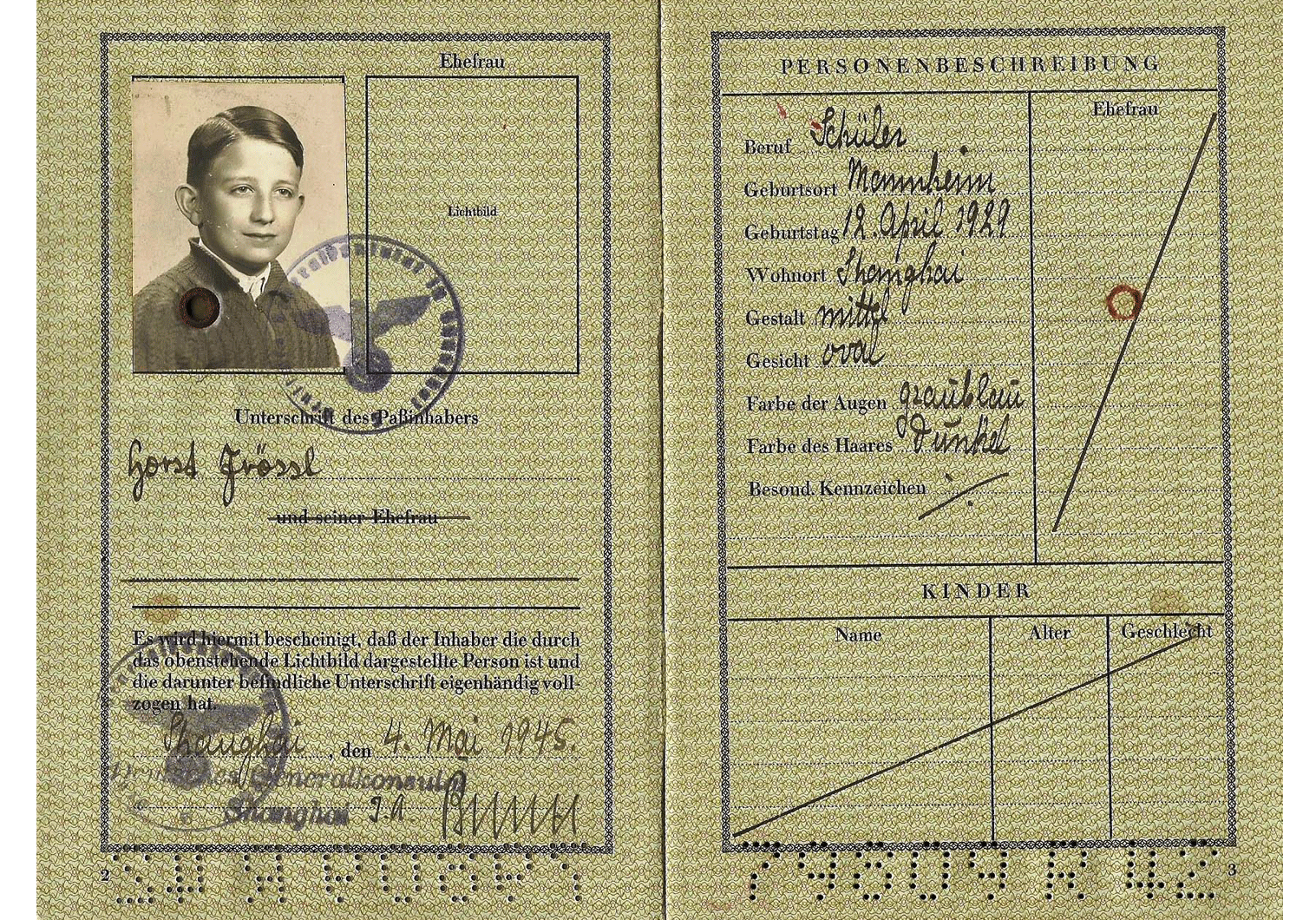 Last German passport 1945