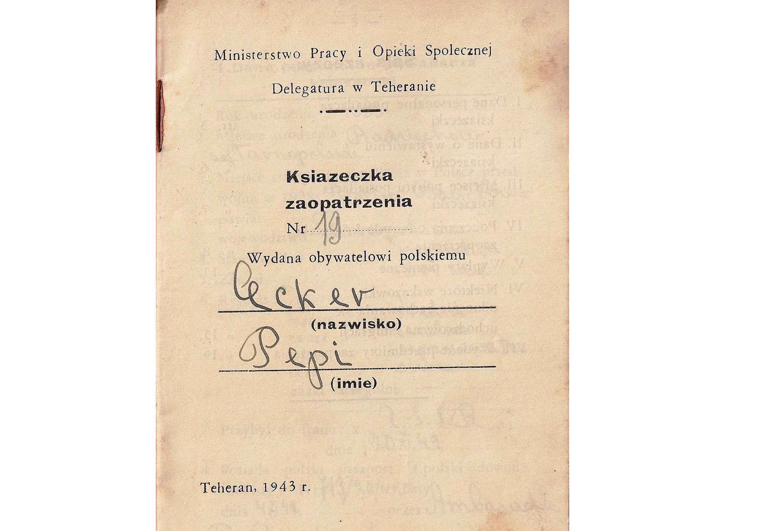 WW2 Polish passport