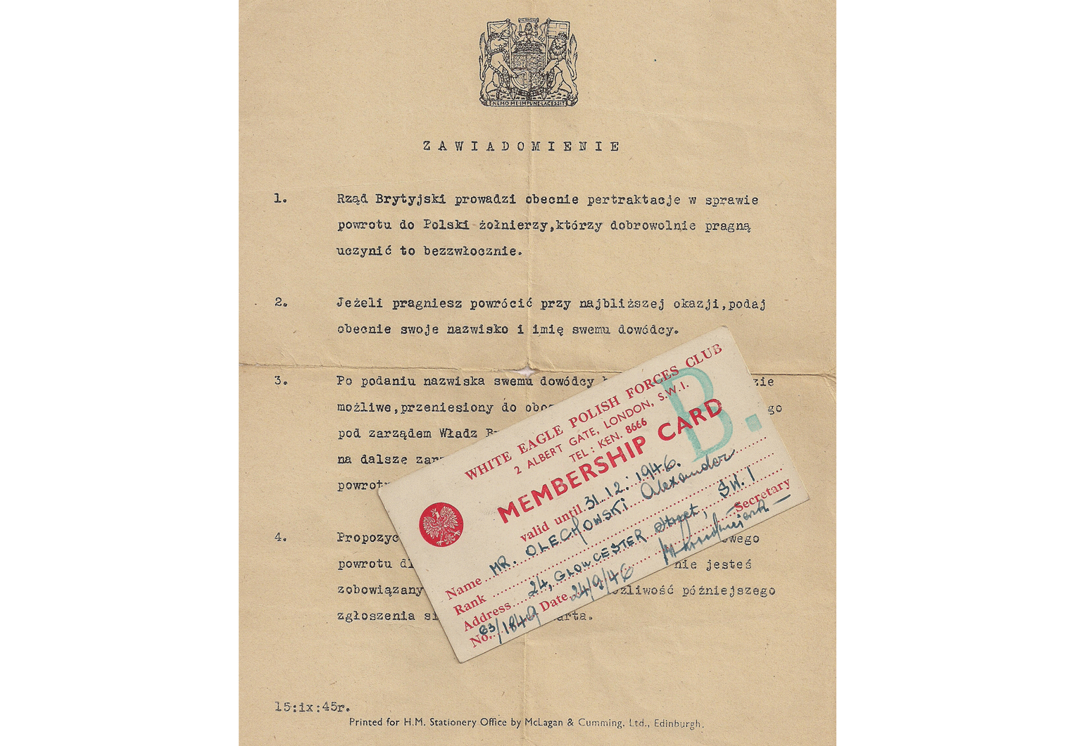 WW2 Polish document