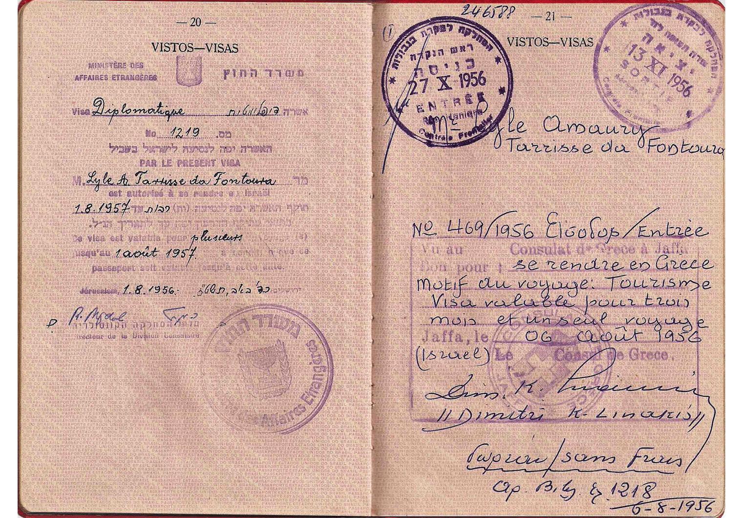 Superb 1954 diplomatic passports