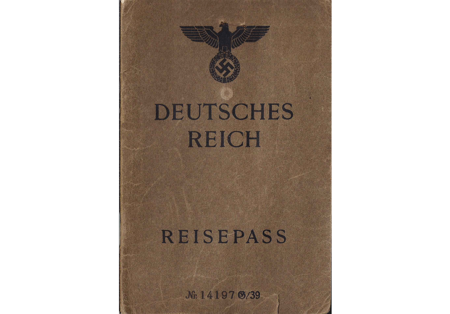 WW2 German stamped J Passport