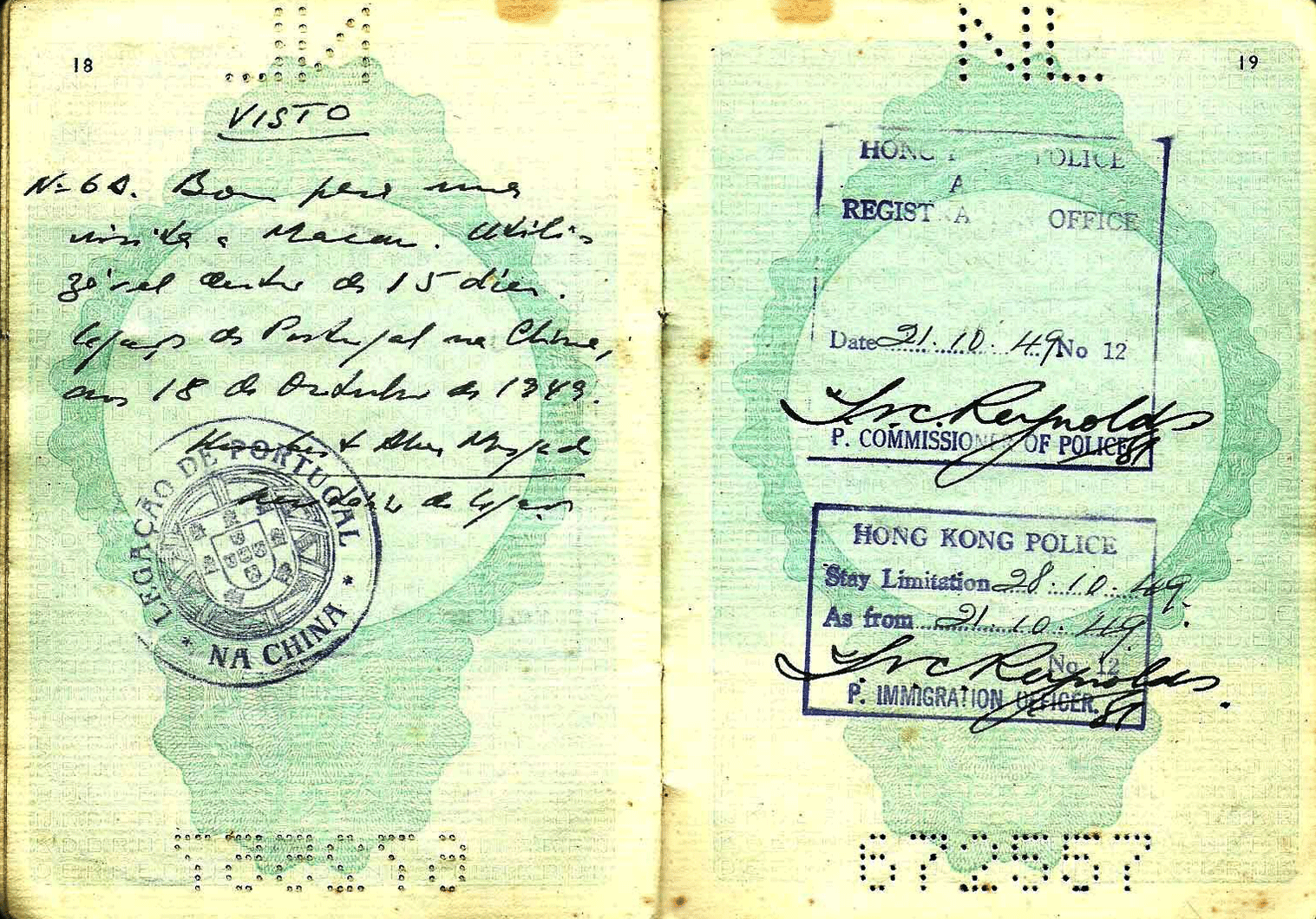 Dutch service passport for the Far East