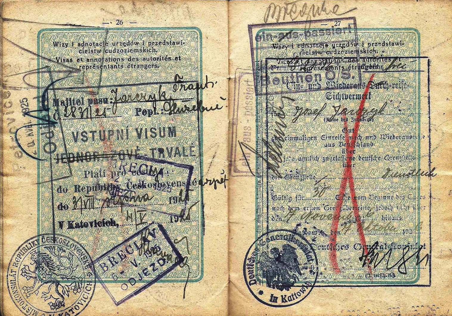 old Polish service passport
