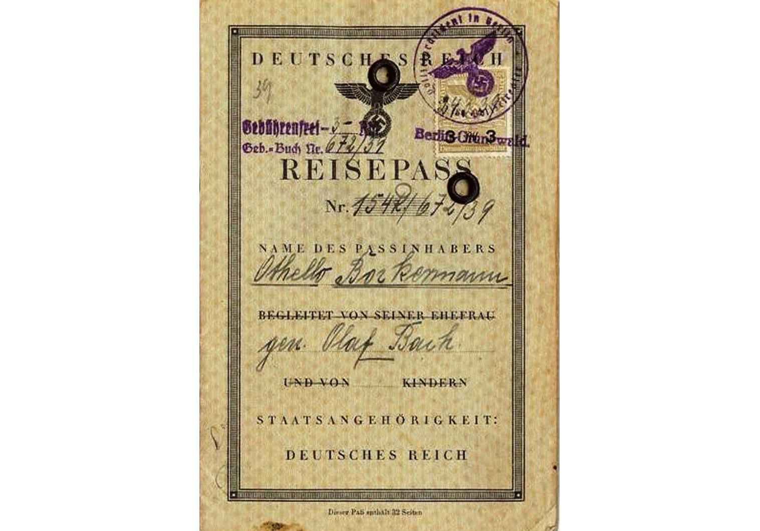 Holocaust passport