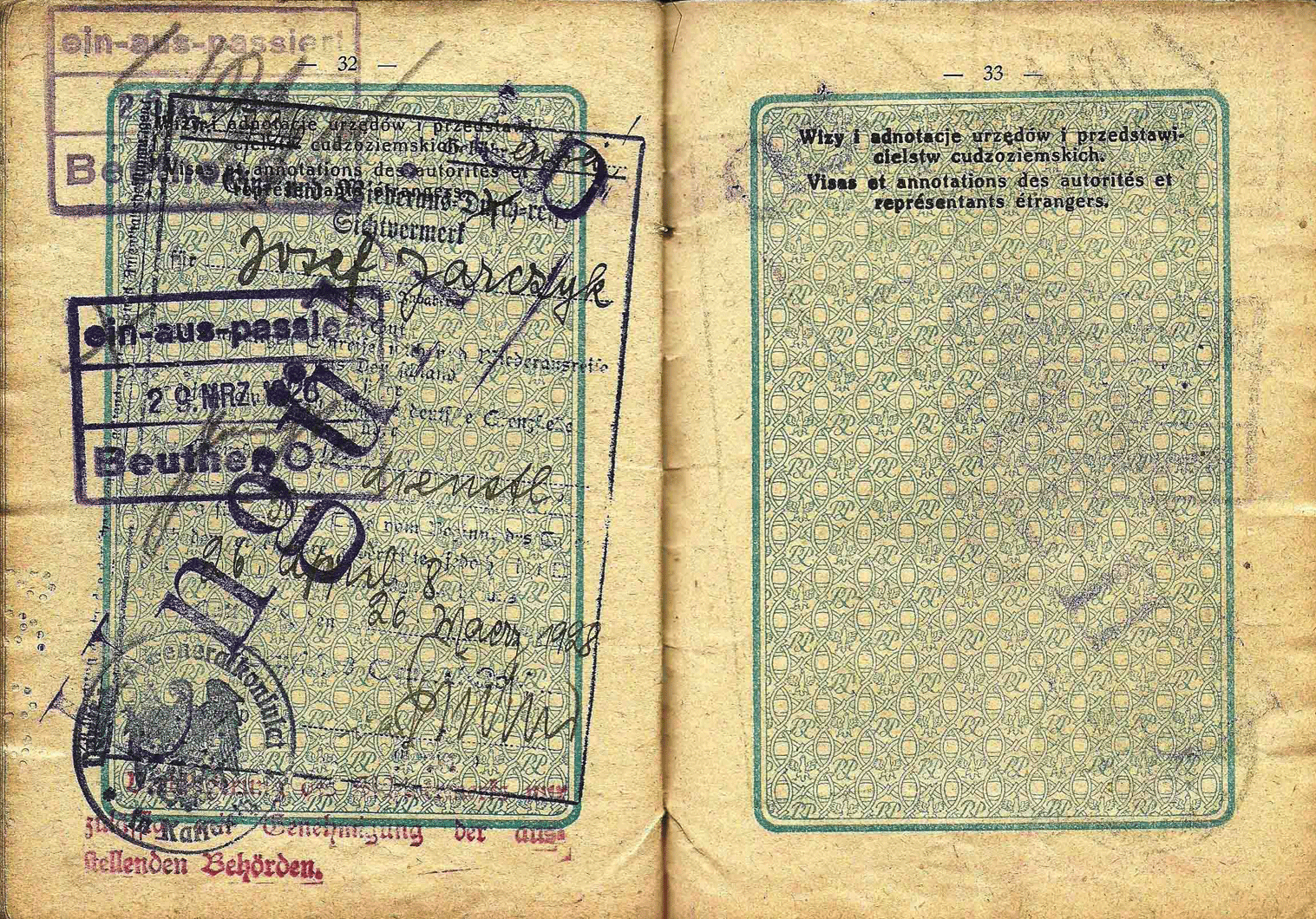 old German service visa