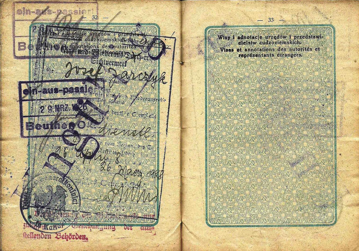old German service visa