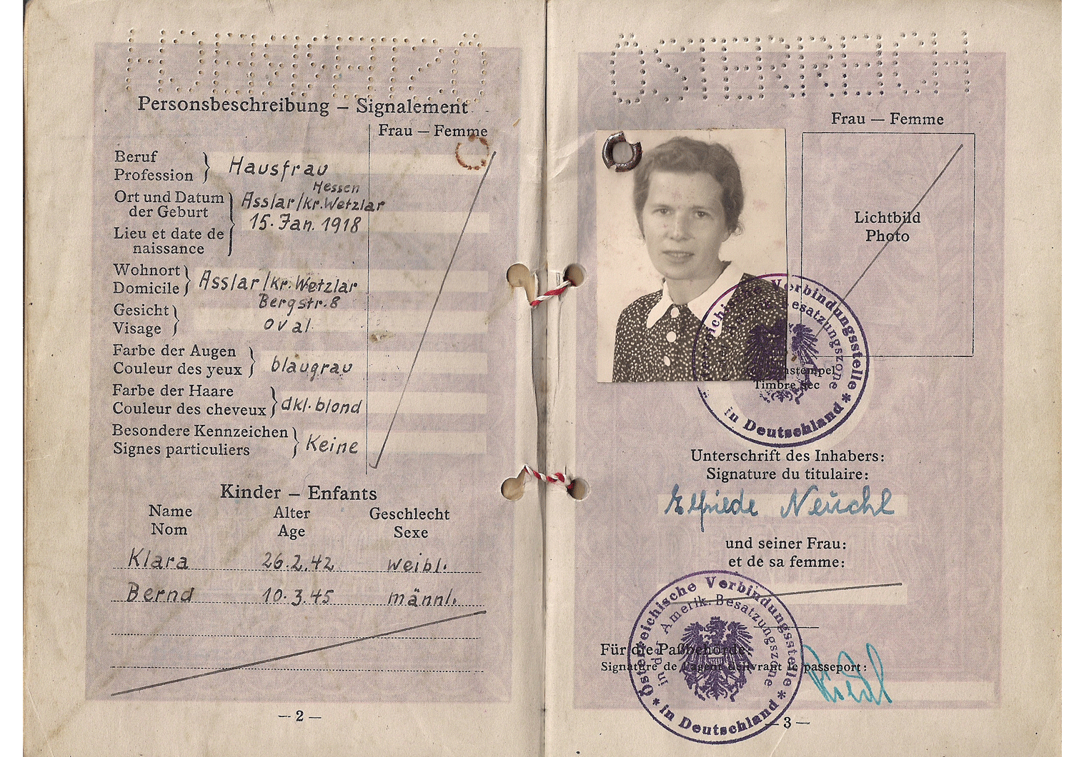 post-war Austrian passport