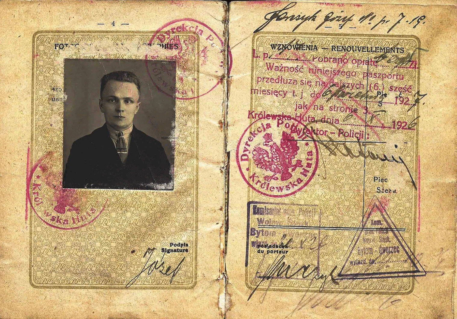 Second Republic official passport