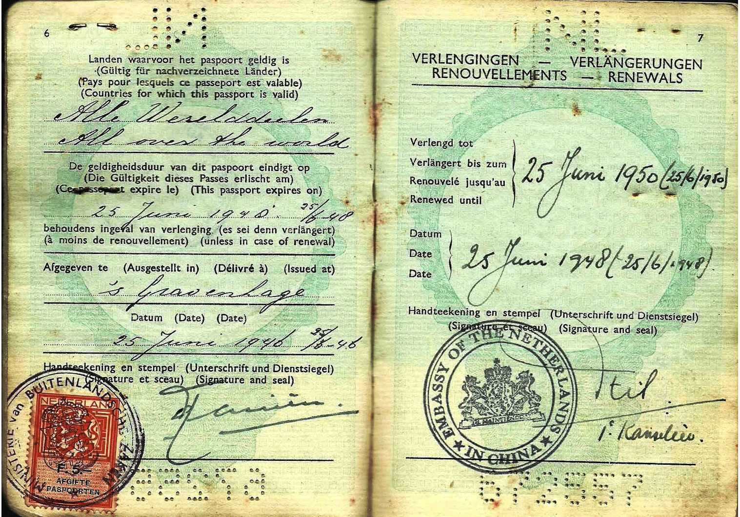 WW2 Dutch Jewish passport