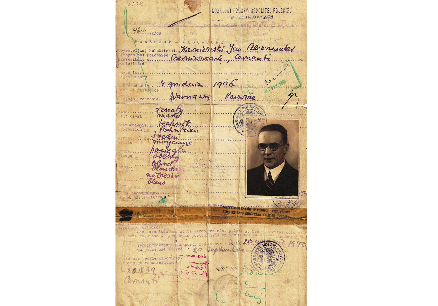 WWII Polish emergency passports