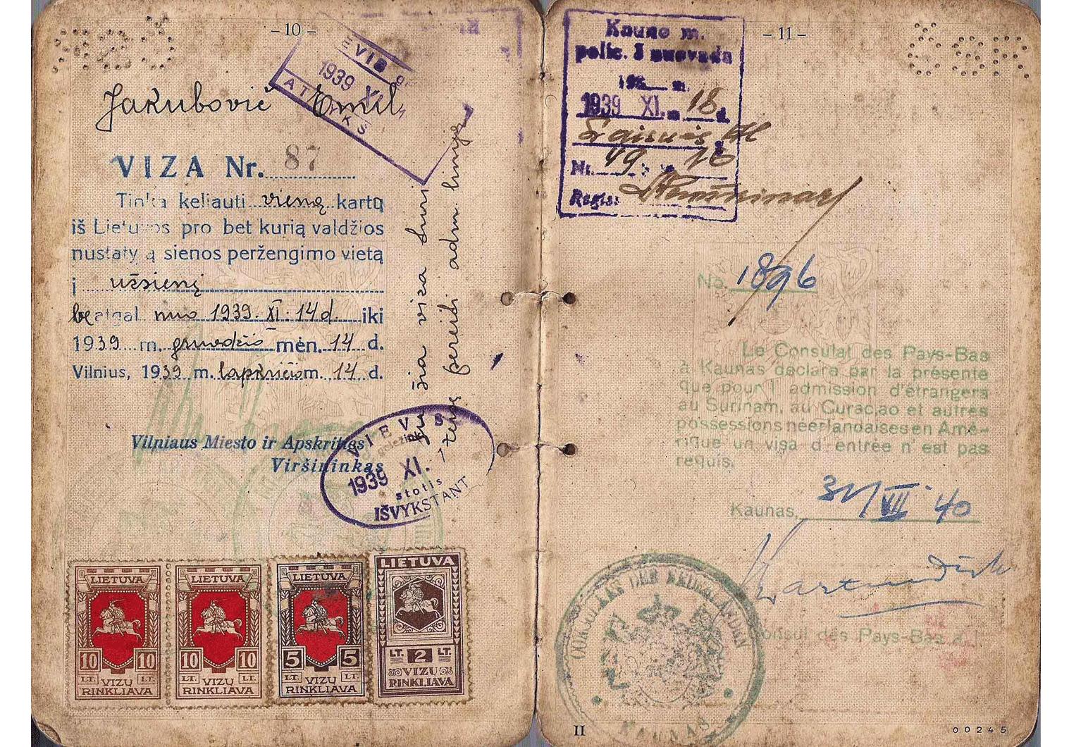Jan Zwartendijk life-saving visa