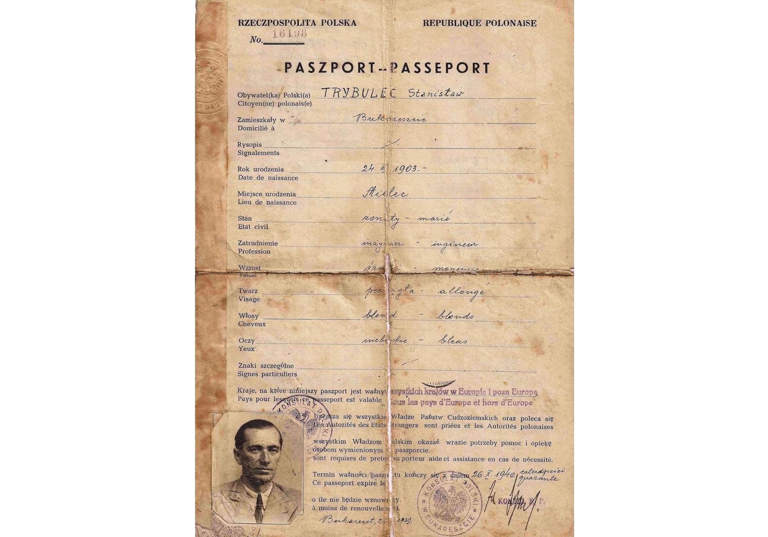 WWII Polish passports