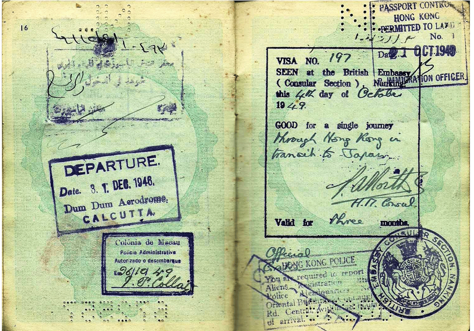 WW2 Dutch passport