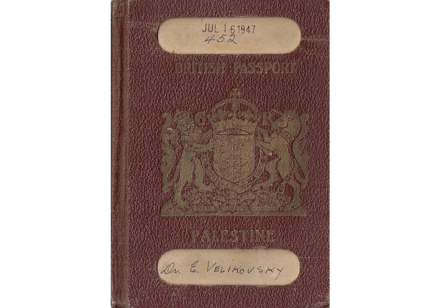 """Worlds in Collision"" authors' passport"