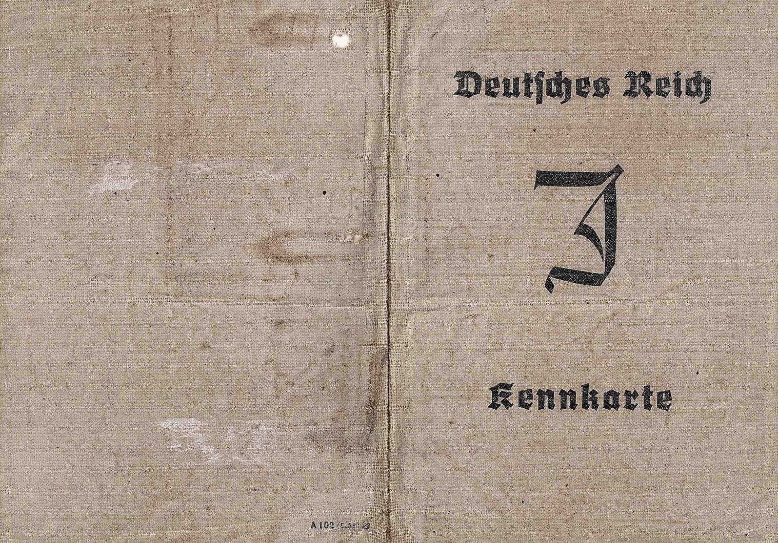 Kennkarte für Juden