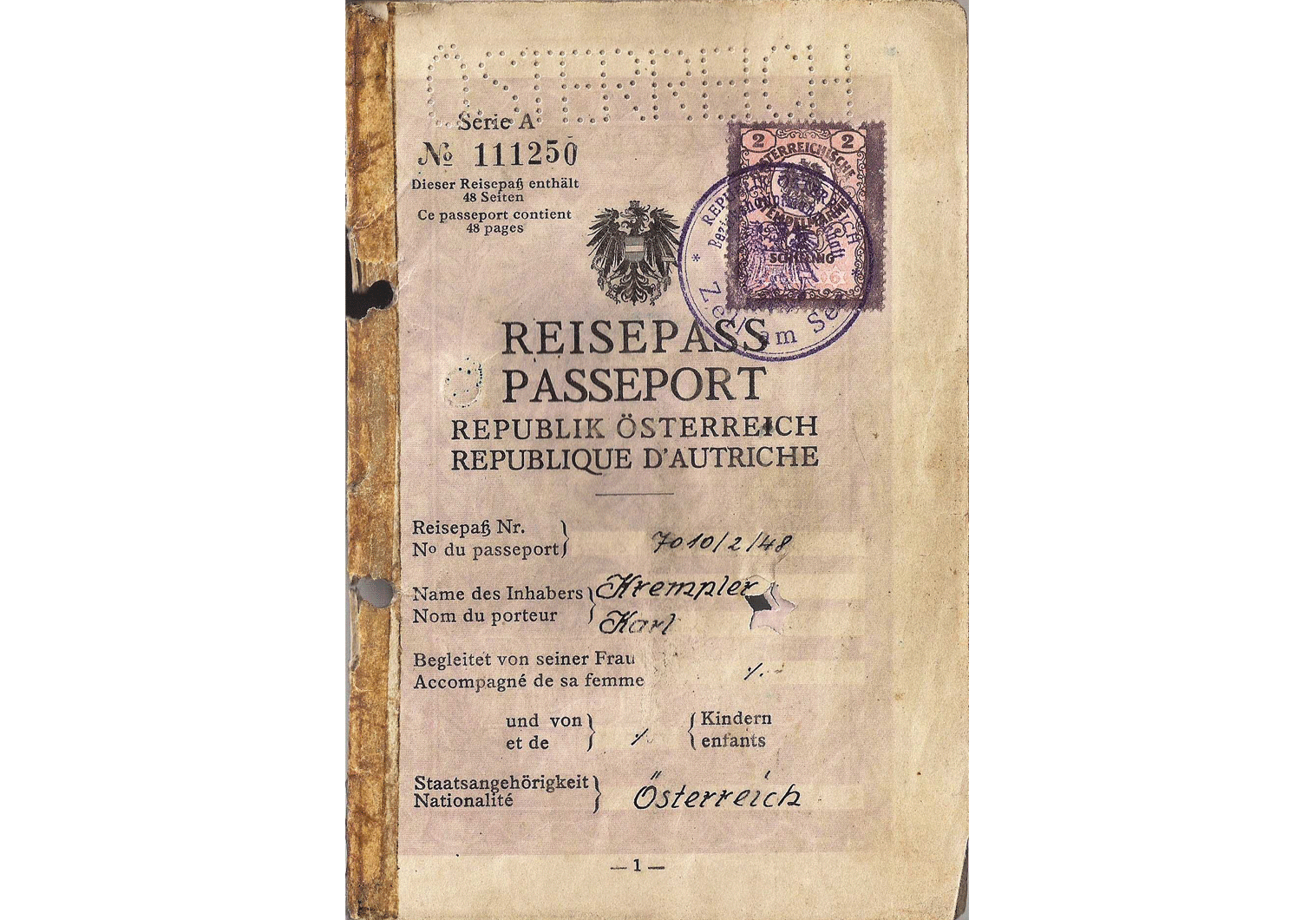 ww2 German passport for SS