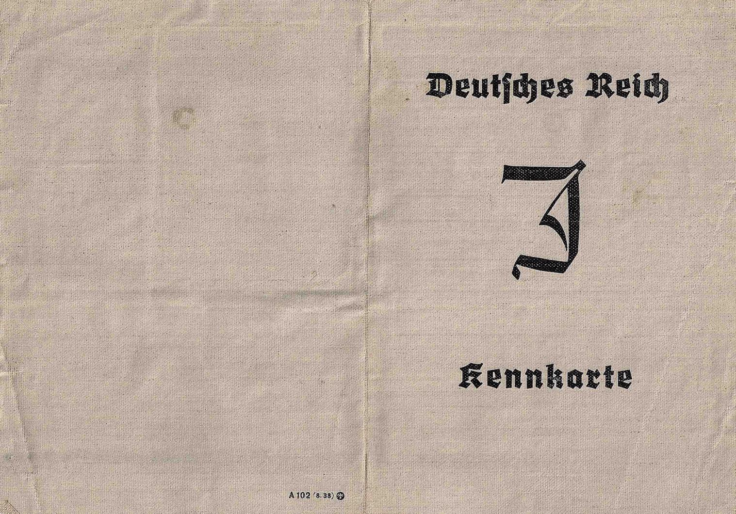 german J stamped ID for Jews